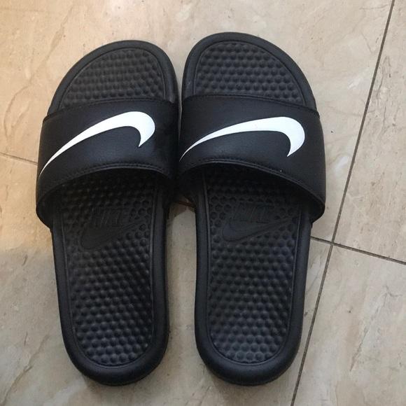 Women Nike Black Slides | Poshmark